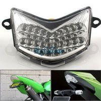 Clear Lens 20 LED Brake Tail Light Turn Signal Blinker For Kawasaki ZX-10R 06-07