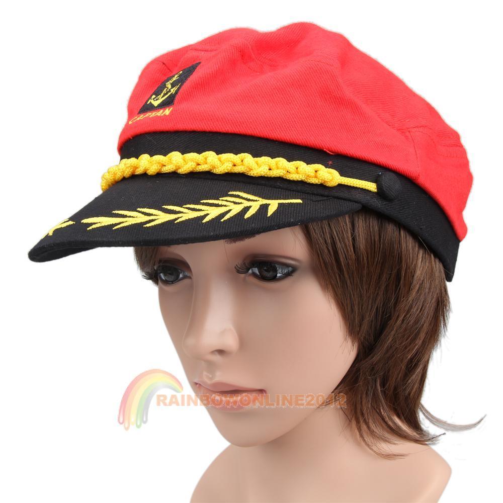R1b1 de moda de nova Red fresco marinha marinha mar marinheiro capitão tampão do chapéu(China (Mainland))