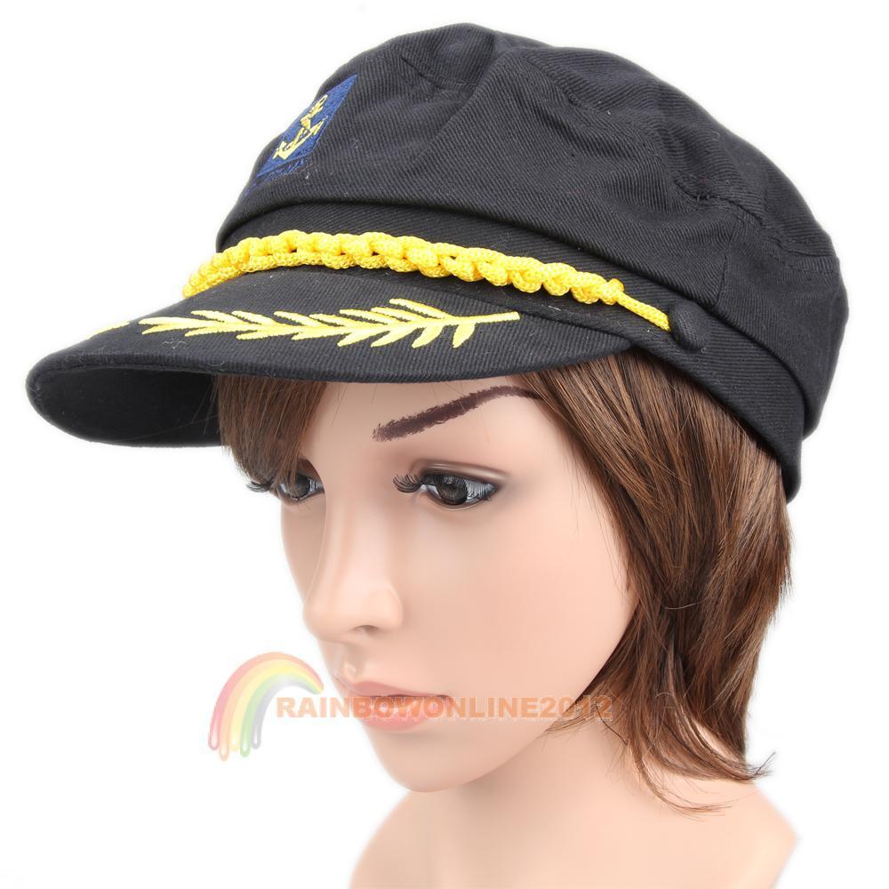R1b1 nova moda preto fresco marinha marinha mar marinheiro capitão tampão do chapéu(China (Mainland))