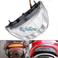 Clear 48 LED Brake Tail Light Turn Signal For Honda CBR1000 04-07/CBR600 03-04