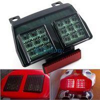 Smoke Lens 18 LED Brake Tail Light Turn Signal Blinker For Ducati 748 916 996