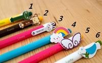 10 pcs/Lot Cute ballpoint pens Kawaii Stationery ballpen Rainbow animal caneta Novelty Office accessories school supplies