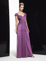 High quality Elegant Chiffon lace evening dress Formal dress temperament Long evening Dress Floor length prom dresses E1512