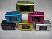 10pcs  Nizhi TT6 Mini Portable Music Speaker With LCD Screen Support Micro SD/TF Card FM Radio Digital Sound Box
