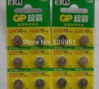 Wholesale 100pcs/lot Original GP LR44 AG13 A76 G13 LR44H Alkaline Button Cell Battery Batteries, free shipping
