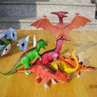 Soft jurassic park dinosaur  plastic animals toys for children soft vinyl dinosaur toys model for boy gift