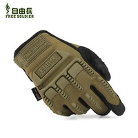FREE SOLDIER tactical gloves with full touch screen sensor for smart phone outdoor sports ride racing gloves free shipping