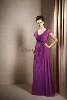 Chiffon prom evening dresses Formal Mother Plus size Long evening Dress party dresses E1513