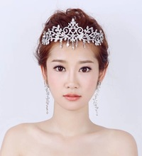 rhinestone bridal crown for wedding Bride pendant fashion crown wedding dress accessories marriage hair accessories