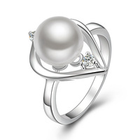 Free Shipping 925 Sterling Silver Rings,Fashion 925 Sterling Silver Pearl Rings,Wholesale Fashion Jewelry,WKNR387