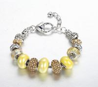 CDE DIY Czech Stone Bracelets Charm Murano Glass Bead Bracelet for Women