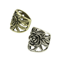 Fashion vintage rings hollow out rose flower ring rings for women,free shipping