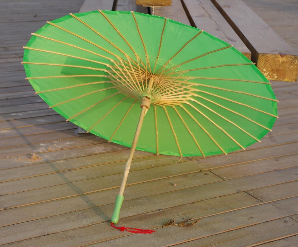 зонтик/зонтик Зеленая равнина ткань бамбука отлично