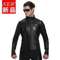 2014 New Jakroo Men Winter PU Thermal Fleece Windproof  Waterproof Cycling Bicycle Riding  Long Sleeve Jacket  - Thunderbird