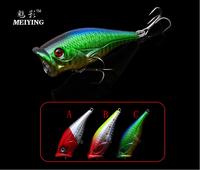 Trulinoya Promotional Hard Fishing Lures Leise 6pcs/lot 11g 67mm Vintage Fishing Popper Baits Hooks DW06 Free Shipping