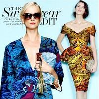 Big brand leaf print STRETCH SILK(93%) FABRIC FASHION SILK SATIN ELASTIC CLOTH 19momme DRESS DIY tailor fabrics