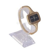 Hot Exquisite Black Square Dial Women Alloy Quartz Analog Bracelet Watch #gib