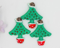 New arrival resin christmas tree holidays resin for phone hair kids decoration accessaries 30pcs/lot free shipping