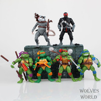 High Quality 12cm TMNT Teenage Mutant Ninja Turtles Action Figure Dolls 6 pcs/lot for the boys Gift SHD-1071