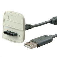 free shipping, USB Charging Cable for Microsoft Xbox 360 / Xbox 360 Slim Wireless Controller
