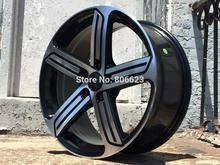 """Livraison gratuite 18 """" noir verni STYLE roues FIT VW GOLF R R32 GTI JETTA MK5 MKV MK6 MKVI jantes(China (Mainland))"""