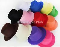 "5"" Solid Felt Mini Top Hat Fascinator base Women Millinery Party Hat"