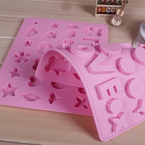 Número carta Heart forma Silicone Mold bolo cortador de ferramentas Cookie(China (Mainland))