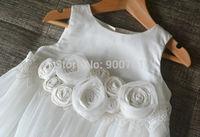 Flower Girl Dress Cotton Baby Girl Dress Birthday Party Dress Baptism Dress Long Dress Tulle