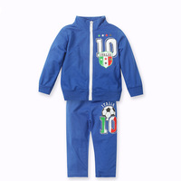 Hot selling new 2014 clothing set , children's clothes ,suit for sport ,1 pc zipper coat+1 pc trousers,the blue,Free shipping