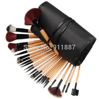 24pcs With Free 2pcs Makeup Brushes Set Comsmetic Case Kit Eyeshadow Foundation Powder Blush Blusher Set