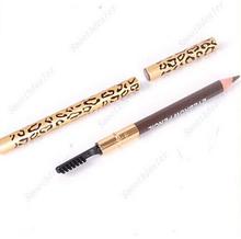 Perfect Waterproof Longlasting Eyeliner Eyebrow Eye Brow Pencil & Brush Makeup Eye Shadow & Liner Combination(China (Mainland))