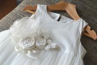Flower Girl Dress off-white Baby Girl Dress Birthday Party Dress Baptism Dress Long Dress Tulle
