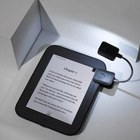 Black Booklight Led Ebook Light Mini Flexible Bright clip-on Book Reader Reading Desk Lamp Clip Button Cell Kindle Nook 923