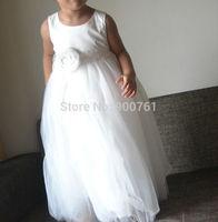 Flower Girl Dress Baby Girl Dress Birthday Party Dress Baptism Dress Long Dress Tulle