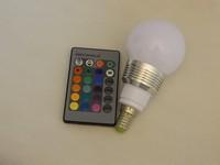 Free shiping 10pcs LED RGB Spot Bulb 3w E14 Spotlight Bulb Lamp High power AC85-265V warm white/ Cold white LED RGB  light bulb