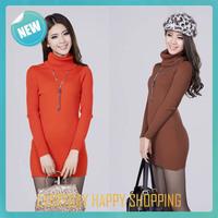 crocheting turtleneck sweater,warm long cardigan women,2014 new winter knit Blouses for women