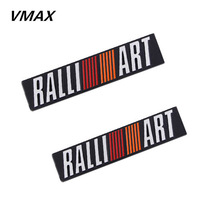 Free shipping (5pieces/lot) 3D Metal For RALLIART Car Stickers For Mitsubishi Cars Parking/Car Styling