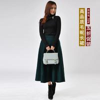 Autumn and winter thickening woolen expansion skirt bust skirt woolen skirt fashion vintage long skirt