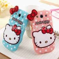 For samsung galaxy s3 i9300 silicon dot hello kitty case free shipping