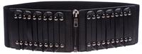 Woman Solid Elastic Cummerbund Elegant Wide belt for female Adjustable 2 ColorsZipper Brand new Cintos Cinturon N251 Hot sales