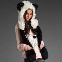 Faux Fur Vest High Quality Plus Size 2014 New Fashion Brand Winter Warm Women Fur Hoody Waistcoat Outwear Women Jacket Coat