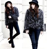 High Quality 2014 New Fashion Big Brand Plus Size S-XL Winter Warm Women Fur Waistcoat Outwear Women Jacket Coat Faux Fur Vest