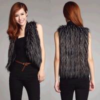 2014 Hot New Fashion Big Brand High Quality Plus Size Winter Warm Women Fur Waistcoat Outwear Women Jacket Coat Faux Fur Vest