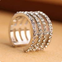 Euramerican classic diamond-studded Joint rings fashion all-match the tail rings,free shipping