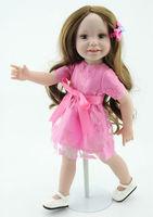 Hot Selling Doll Toys Fairyland Bjd Doll Accessories Fashion Vinyl Toys Size 18''  Long Brown Wig Lifelike Dolls