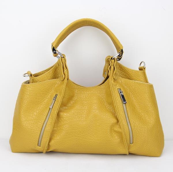Best selling women's fashion leather shoulder handbag, Free shipping H025 yellow(China (Mainland))