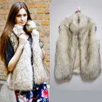 High Quality Faux Fur Coat Plus Size S-XXXL 2014 New Fashion Brand Outwear Women Jacket Coat Winter Warm Women Fur Waistcoat
