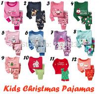 Baby Many Christmas Design Clothing Sets Pijamas Kids 100% Cotton Pajamas Children Santa Pyjamas sets Boys Girls Sleepwear