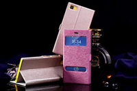 Luxury Open Window Flip leather Case Cover For xiaomi 3 m3 mi 3 Original Mobile Phone Bag With Holder