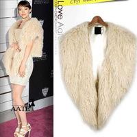 High Quality 2014 Big New Brand Women Fur Vest  Plus Size S-XXXL Colete De Pele Rabbit All-Match Fur Jacket Faux Fur Coat Jacket